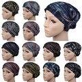 Xaile do lenço muçulmano hijab Muçulmano Elástico Denim Chapéu Muçulmano Underscarf Hijab Caps Mulheres Headband Do Turbante muçulmano do lenço das mulheres