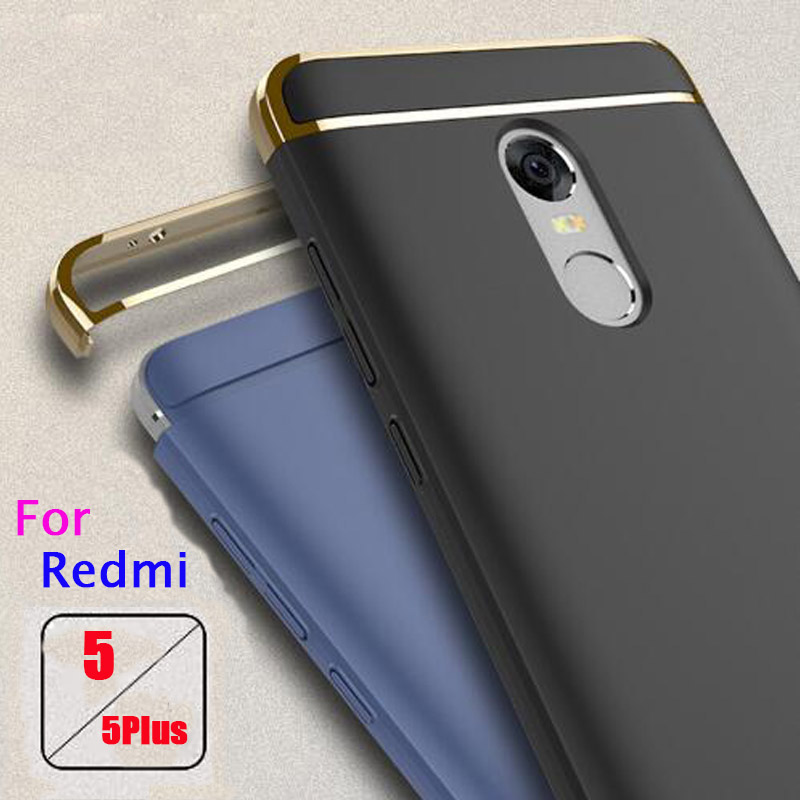 Case For Xiaomi Redmi 5 Phone Cases Luxury Protective Back Cover 3 in 1 Hard PC Hybrid Cases For Xiomi Redmi 5 Plus 5Plus capa