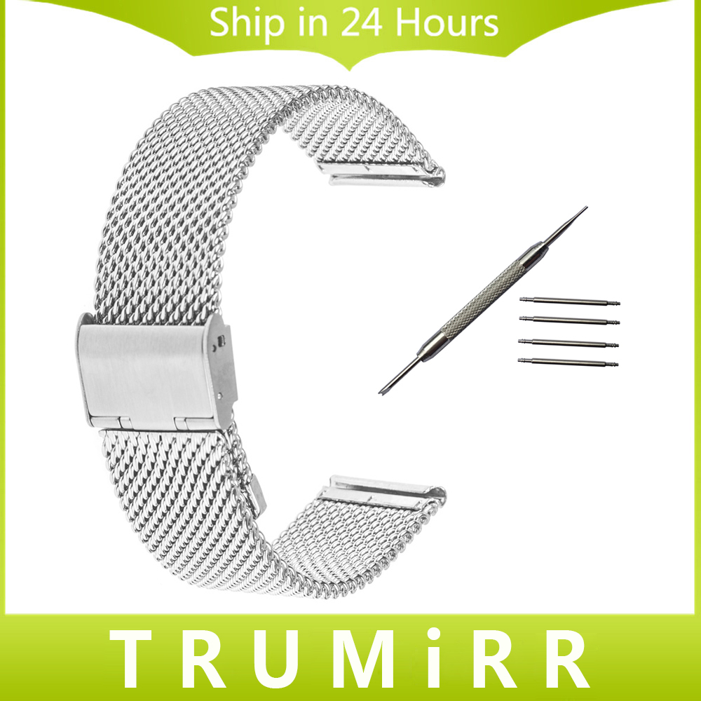 Milanese Watchband 18mm 20mm 22mm for CK (Calvin Klein) Watch Band Stainless Steel Strap Replacement Wrist Bracelet + Tool + Pin jansin 22mm watchband for garmin fenix 5 easy fit silicone replacement band sports silicone wristband for forerunner 935 gps