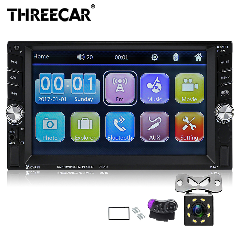 Universal 6.6 HD Bluetooth Stereo Radio 2 DIN Car Audio Stereo Player mirror Car MP5 Player TF SD USB FM Radio Hands-freeUniversal 6.6 HD Bluetooth Stereo Radio 2 DIN Car Audio Stereo Player mirror Car MP5 Player TF SD USB FM Radio Hands-free
