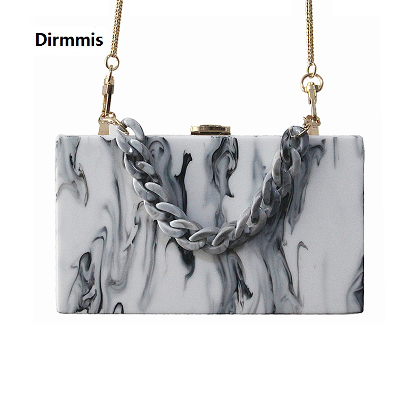 2018 New Clutch Evening Bags Acrylic Brand Wallet Fashion Women Wedding Shoulder Bag Woman Ink Print hand bag Casual Clutch Hot casual ink painting print ombre blouse