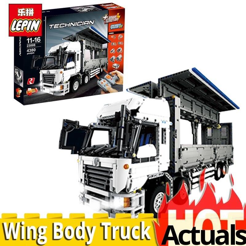 Lepin technique série 23008 aile corps camion modèle 4380 pièces Compatible MOC 1389 ensembles jouets éducatifs blocs de construction briques enfants