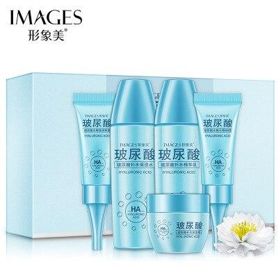 BIOAQUA 5 Pieces Hyaluronic Acid Body Wetting Before Glaz Moisture Meticulous Pore Guidebook Skin Care Set