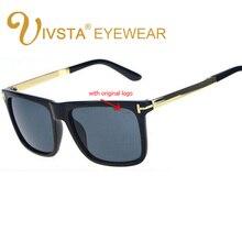 IVSTA with original logo TF Sunglasses Mirror Driving Big Oversized Glasses Men Brand Designer Square frame Nerd UV400 Lenses