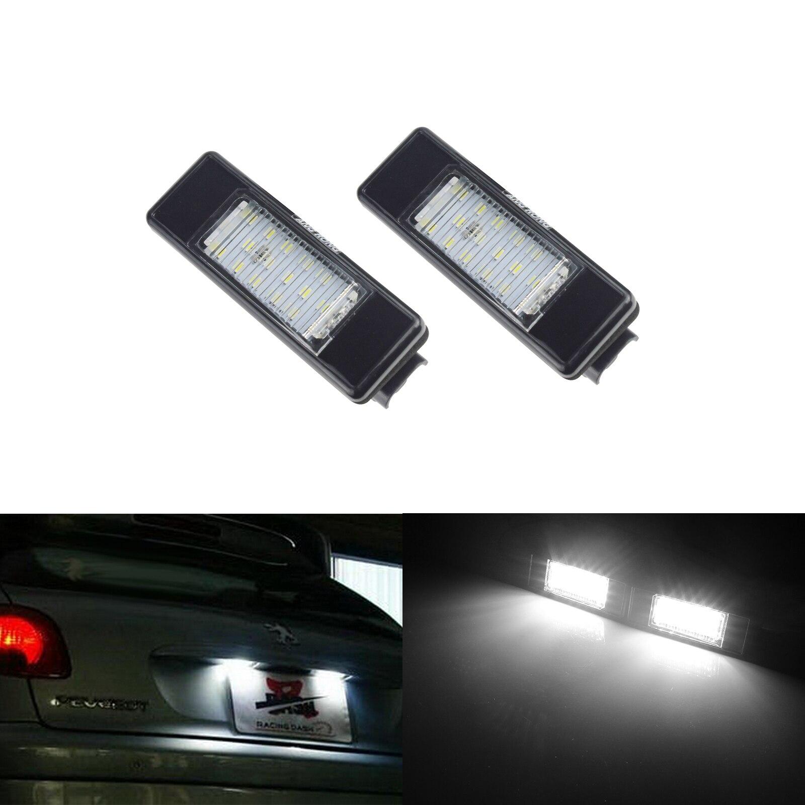 2x Citroen C2 Bright Xenon White LED Number Plate Upgrade Light Bulbs