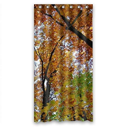 Autumn Orange Nature Trees Best Home Fashion Custom Fabric Bathroom Shower Curtain 36(W)(H)