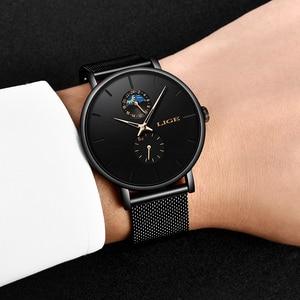 Image 4 - 2020 LIGE Mens Watches Top Brand Luxury Quartz Men Watch Mesh Belt Luxury Waterproof Sport Watch Men Male Clock Man Wristwatch