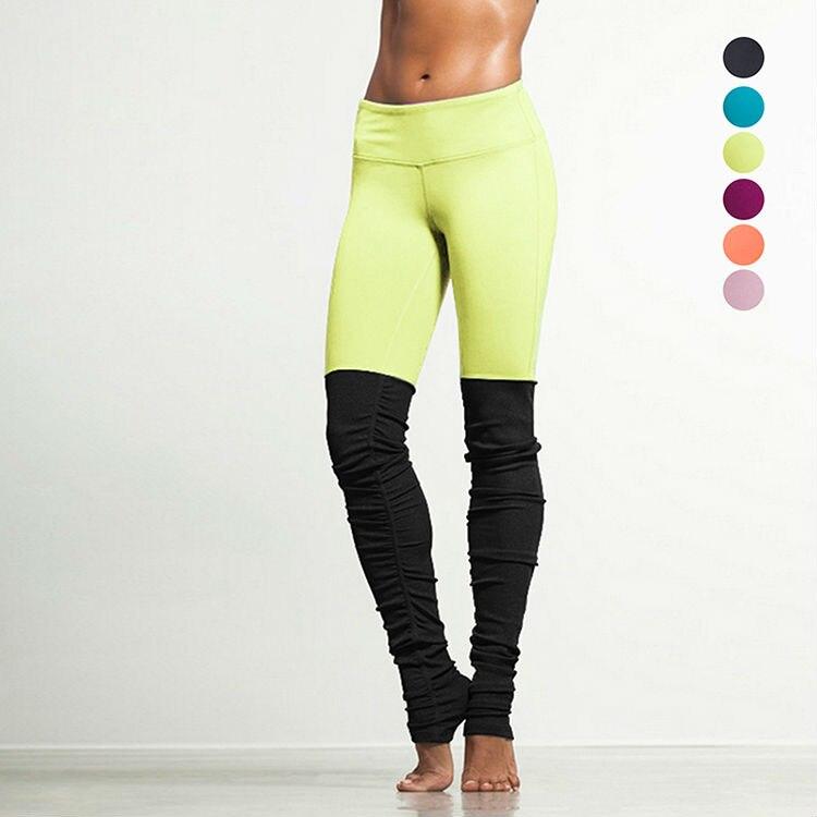 Prix pour Nervuré Leggings Déesse De Yoga Pantalon de Sport Fitness Vêtements pour Femmes FitnessTrousers de Course Pantalon Sport Gym Sport