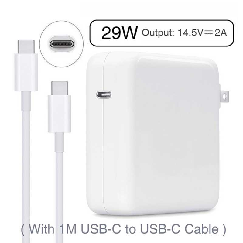 Nouveau Chargeur pour ordinateur portable AC Chargeur 29 W 14.5 v 2A 1 mètre câble de USB type C EU US cordon d'alimentation en gros pour nouvelle tablette Macbook