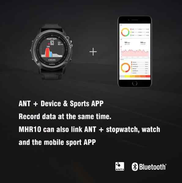Magene MHR10 Bluetooth4.0 ANT + 心拍数センサー互換ガーミン Bryton IGPSPORT 実行しているコンピュータバイク心拍数モニター