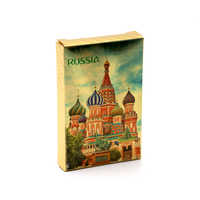 2018 New Russia poker 24K Golden foil Playing Cards PVC Plastic Waterproof durable Poker cards standard game cards