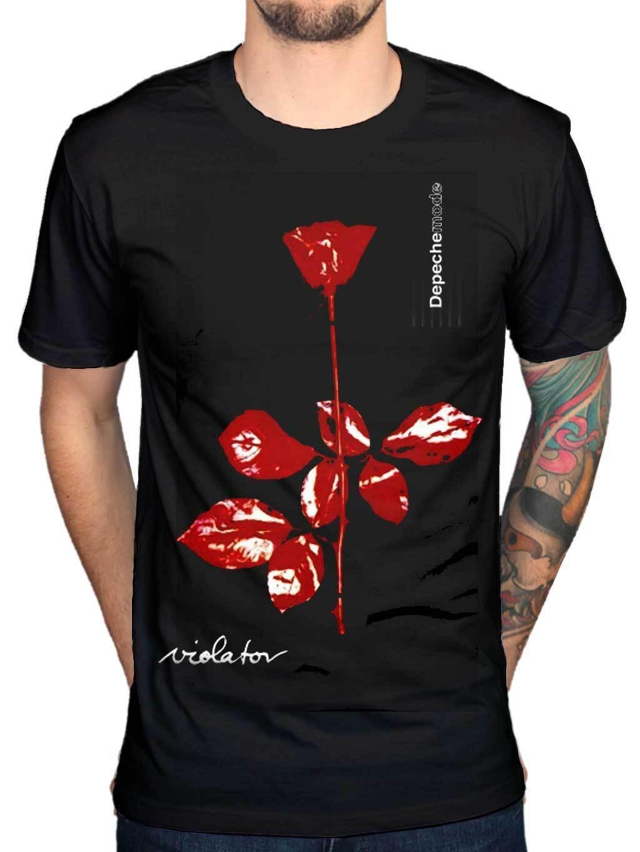 Design t shirt price - 2017 Creative Depeche Mode Violator T Shirt Band Classic Electro Rock Band Design Tops Tee Fashion
