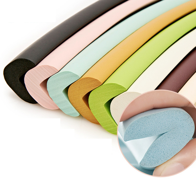 5M Children Safety Desk Table Edge Corner Protector Strip Kids Rubber Protection Cushion Glass Edge Furniture Edge Guard Strip