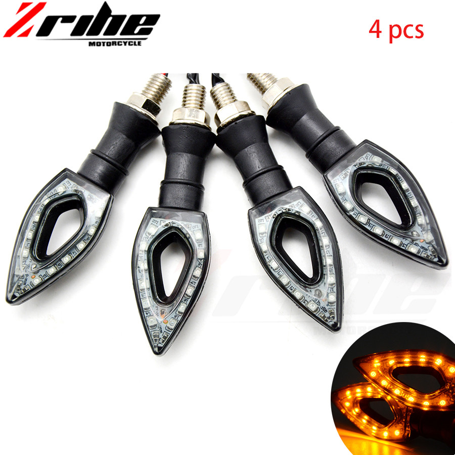 4pcs FOR KTM BMW KAWASAKI YAMAHA R1 Motorcycle LED Turn Signal Moto Flasher Indicator Light DC 12V Universal Amber Blinker Lamp