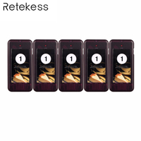 5 pcs Call Coaster Pager Ontvanger voor T112 T111 Draadloze Paging Queuing Systeem Restaurant Pager Oproepsysteem 433 MHz