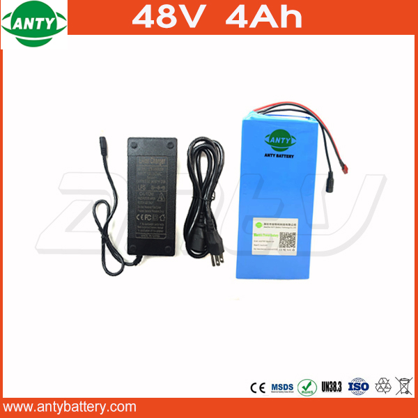 Electric Bike Battery 48v 4Ah 500W Lithium Battery 48v with 54.6v 2A charger 15A BMS ebike 48V Scooter Battery 48v Free Shipping free customs taxes super power 1000w 48v li ion battery pack with 30a bms 48v 15ah lithium battery pack for panasonic cell