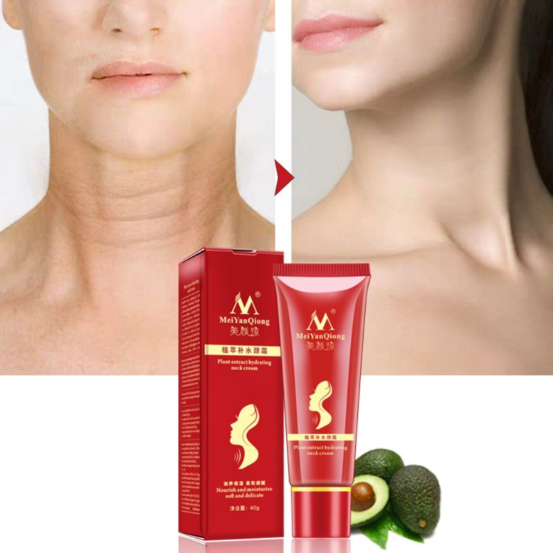 MeiYanQiong Moisturizing Anti-Wrinkle Neck Care Cream Facializes Thin Lines Whitening Skin Reduces Double Chin Care