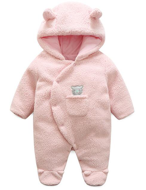 newborn baby romper  spring autumn rompers infant clothing girls hooded overalls berber Fleece jumpsuits baby costume coat free shipping new 2017 spring autumn baby clothing infant set gift baby jumpsuits newborn romper 4pcs set 2pcs romper hat bib