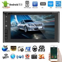 7,1 дюйма Экран Wi Fi 3g Bluetooth Android 7,1 автомобиль MP5 FM радио gps Навигатор Автомобильный видео стерео аудио MP5 плеер HD 1024*600 Новый