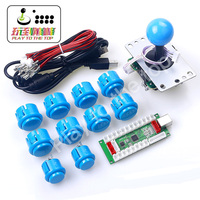 PC PS3 Android XBOX 360 For Windows 4 In 1 USB to Arcade Joystick Encoder Board + 4/8 Way Switchable Joystick + 10 Push Button