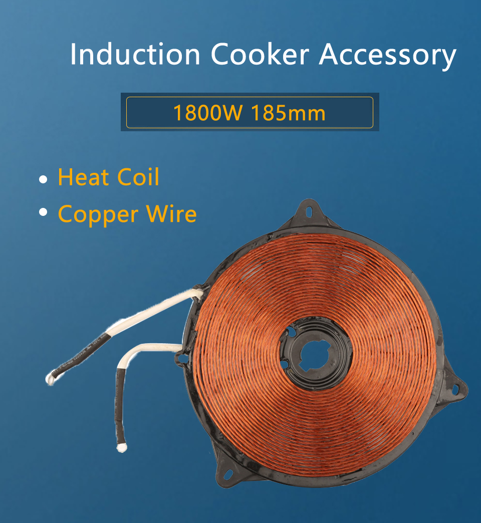 Aliexpress.com : Buy 1800W 185mm Heat Coil, Copper Wire Induction ...
