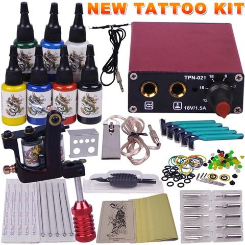 1 starter kit de maquina de tatuagem maquiagem permanente kit arma kit professional body