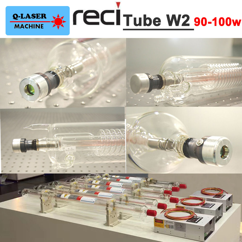 Reci Laser Tube W2 S2 Z2 90W-100W Length 1200mm Dia. 80mm for CO2 Laser Engraving Cutting Machine co2 laser lens tube reci w4 100w 120w 130w tubes z4 for co2 laser cutting engraving machine dia 80mm length 1200mm s4 v4