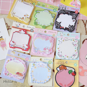 30 pages Kitty Gudetama Melody Twin Stars Memo Pads