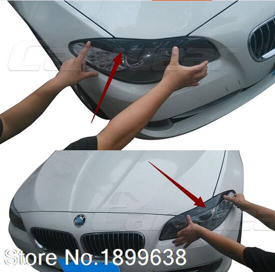 Haute Qualité En Fiber De Carbone Phare Avant Couverture Paupière Sourcil pour BMW série 5 F10 F18 523 525 520 530 2010-2013