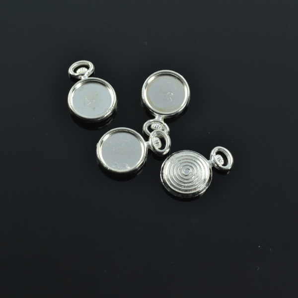 25pcs Silver Plated Watch Charms alloy cabochon 9mm Pendants for Bracelet Necklace Jewelry Making Accessories DIY 17*11mm 1739