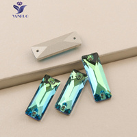Peridot Cosmic Baguette Sew On Stones Garment Clothes Beads Sew On Rhinestones Sewing Crystal Sew Glass