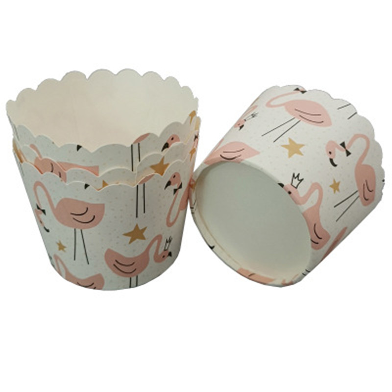 50Pcs Stars Flamingo Cupcake Wrapper Paper Dessert Cupcake Liner Baking Cup Tray Wedding Caissette Muffin Cupcake Paper Cup Case