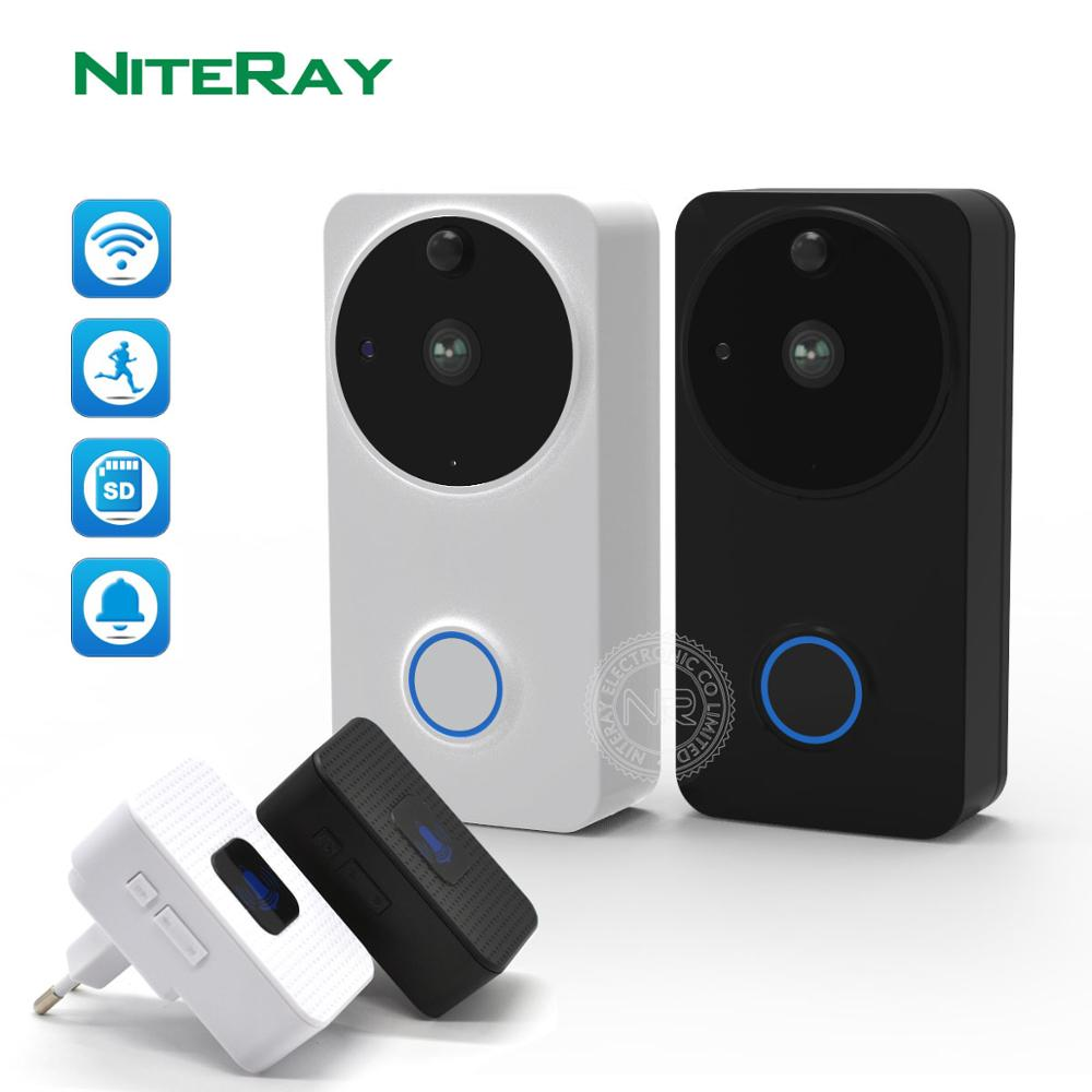 WIFI Doorbell Camera Battery PIR Night Vision IP65 Waterproof Video Door Caller