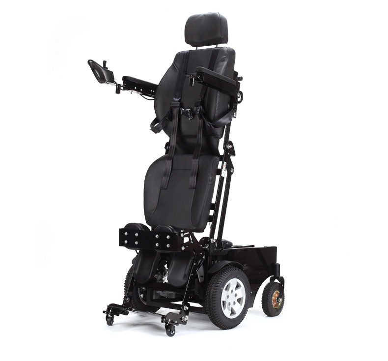 Strong loading stand up portable electric wheelchair with good tire