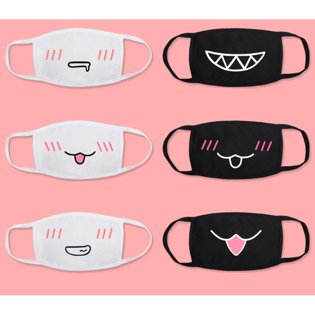 Anime Kaomoji-kun Emoticon Mouth-muffle Cotton Anti-Dust Face Mask 2