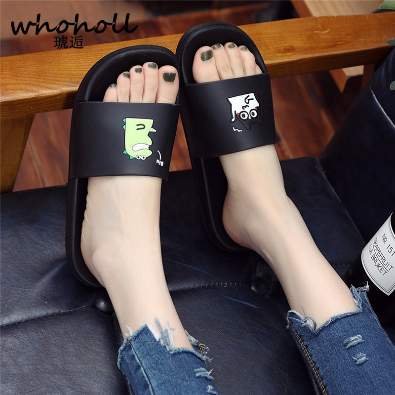 WHOHOLL Man Home Slippers Summer Sandals 2019 New Anti-skid Outside Wear Indoor Home Bathroom Bath Couple Cold Slippers Male 5