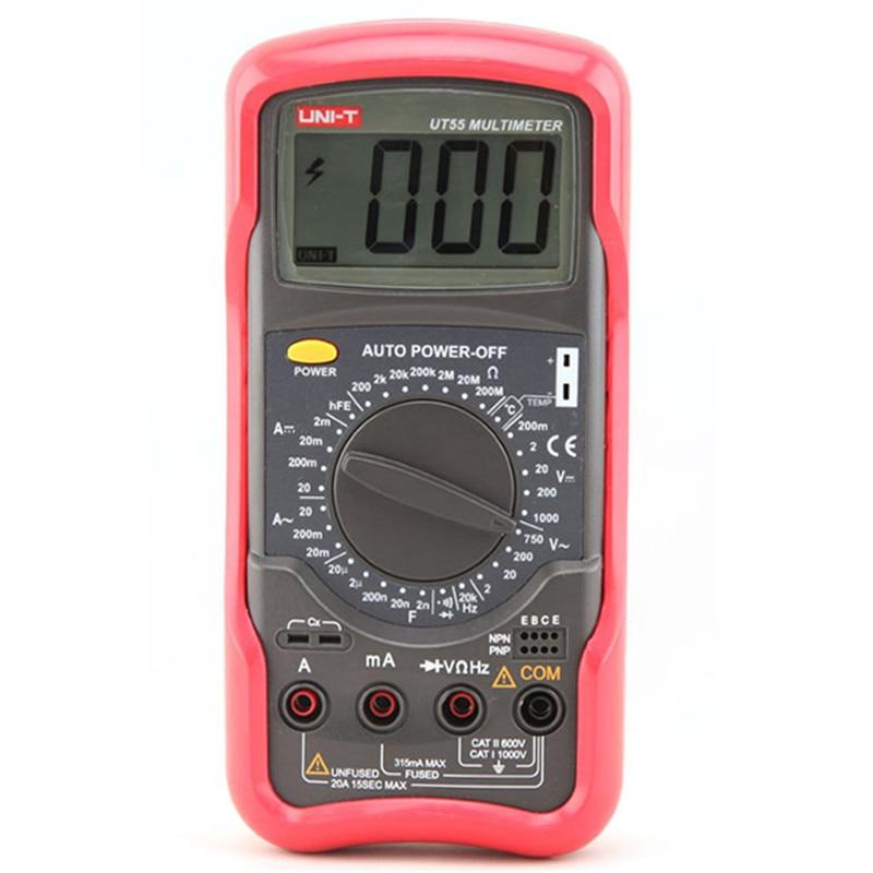 Digital Multimeter UNIT UT55 1000V 20A DMM AC/DC Voltmeter Resistance Diode Temperature test Handheld Multimeter tester цена
