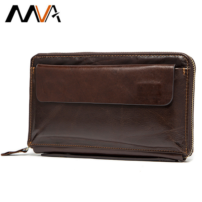 Hot!! Men Wallet Zipper Money Clip Wallet Clutch Bag Men's Purses Genuine Leather Men Wallets Leather Man Wallet Long Male Purse men clutch bag italian vegetable tanned leather long wallet luxury phone wallets wristlet male purse man clutch hand bag purses