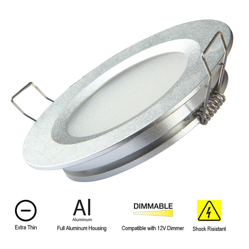 DC12V Concise Bedroom Ceiling Lights Ultra thin 12mm Bright Even Light 3W LED 300lm Indoors motorhome yacht boats lighting