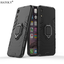 Huawei Y6 Pro 2019 Case Cover for Finger Ring Phone Shell Protective Armor For