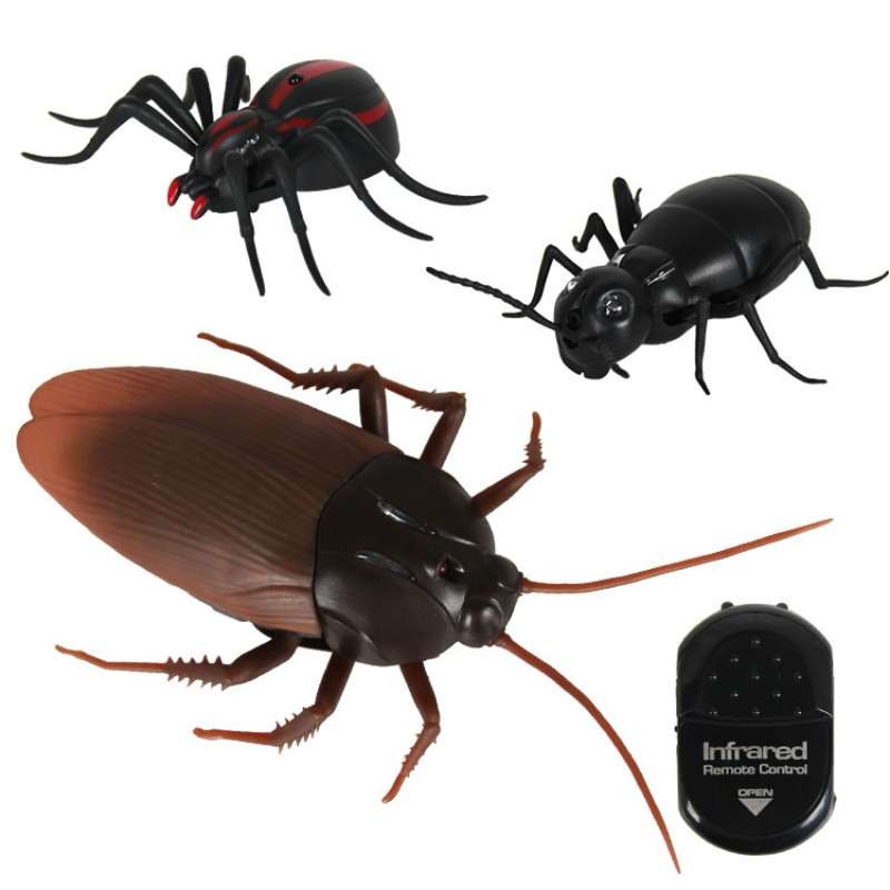 High Simulation Infrared Remote Control Animal Insects Toys Terrible Spider Ant Cockroach Spoof Novelty Toys Can Shine Kid Gift