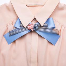 Я-Remiel Модные женские с бантом брошь лента цветок Cravate розовый шелк Browtie школьные галстуки рубашка Женская одежда аксессуары