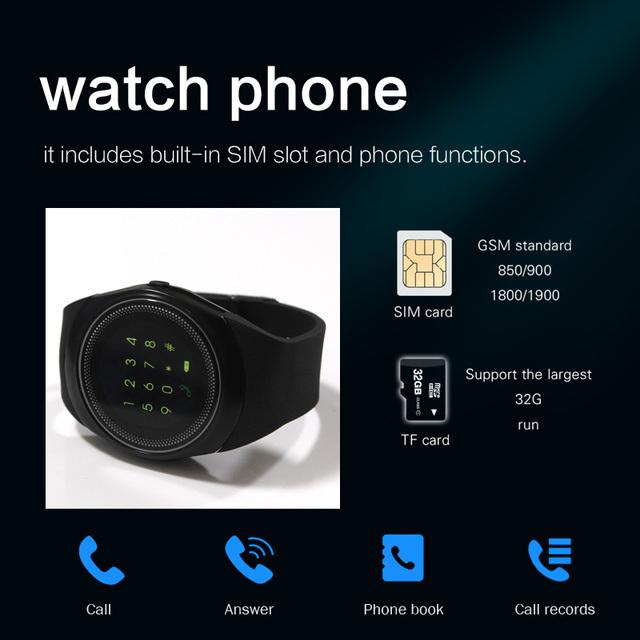 Reloj inteligente para hombre android con pantalla táctil p20 tarjeta sim Dial llamada