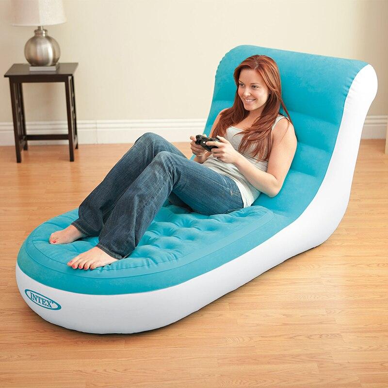INTEX haute qualité pliable forte étanche confortable gonflable canapé gonflable de camping tapis avec pompe