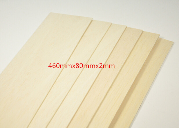 Balsa Wood 10 Sheets 460mmx80mmx2mm Top Quality For RC Airplane Boat Model DIY super quality 600 or 300mm long 300mm wide 2 3 4 5 6 8mm thick aaa balsa wood sheet splicing board for airplane boat diy