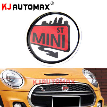 Red Mini Street For Mini Cooper Car Front Grille Emblem Badge