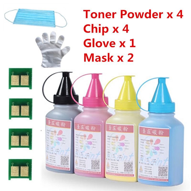 For HP CE310 311 312 313 Printer Toner Powder And Chip LaserJet Pro CP1025/CP1025nw/M175a/M175nw/M275 MFP