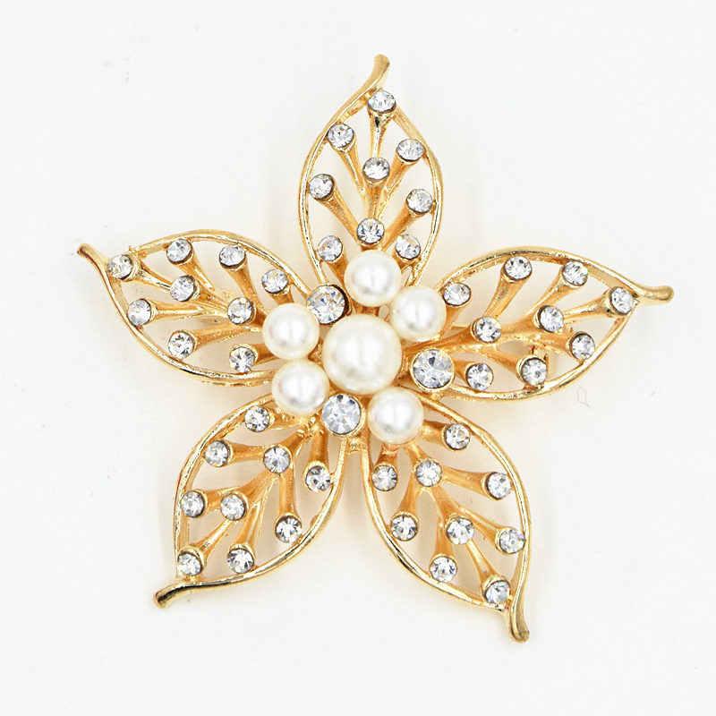 2019 nuovo retro del rhinestone grande fiore spilla d'oro della boemia dei monili del commercio all'ingrosso Designer Di Gioielli di Lusso Per Le Donne