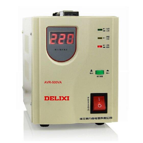New Delixi Voltage Stabilizer AVR-500W 0.5KW Automatic Household AC Regulators / TV PC Refrigerator Voltage Regulator
