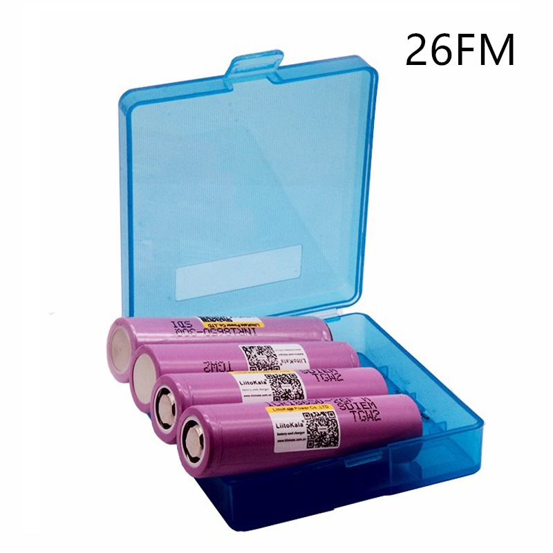 <font><b>4</b></font> <font><b>pcs</b></font> liitokala lii-26FM 3.7V <font><b>18650</b></font> 2600mAh <font><b>batteries</b></font> rechargeable <font><b>Battery</b></font> ICR18650-26FM safe <font><b>batteries</b></font> Industrial use image